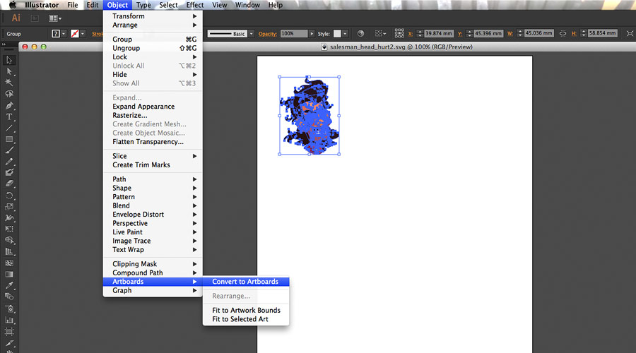 Saving out in Illustrator, or creating a map of a small constellation of stars. You decide.